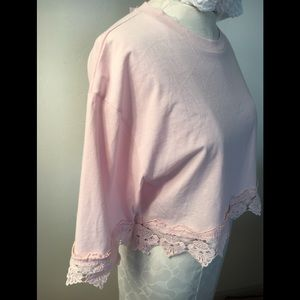 Crop T very light pink